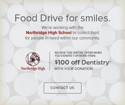 Layton Smiles Dentistry - Northride High School Food Drive